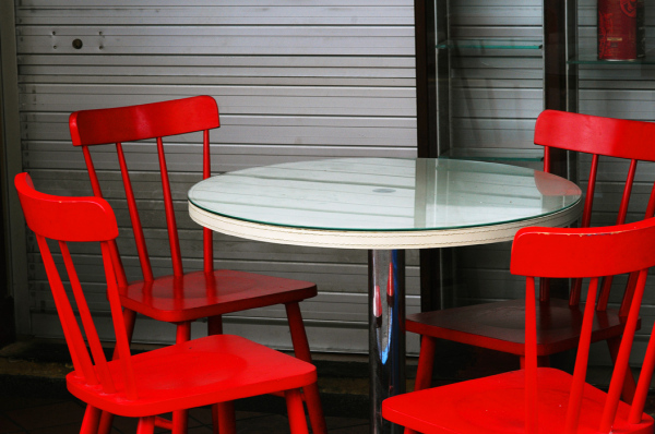 Four Red Chairs