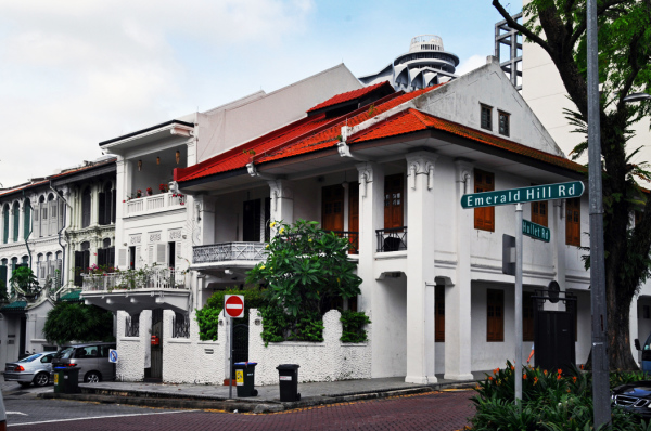 Traditional Houses at Emerald Hill, Singapore