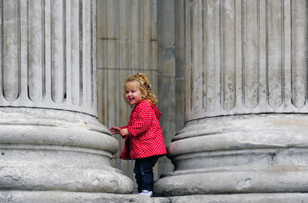 Girl at St Paul's Cathedral, London