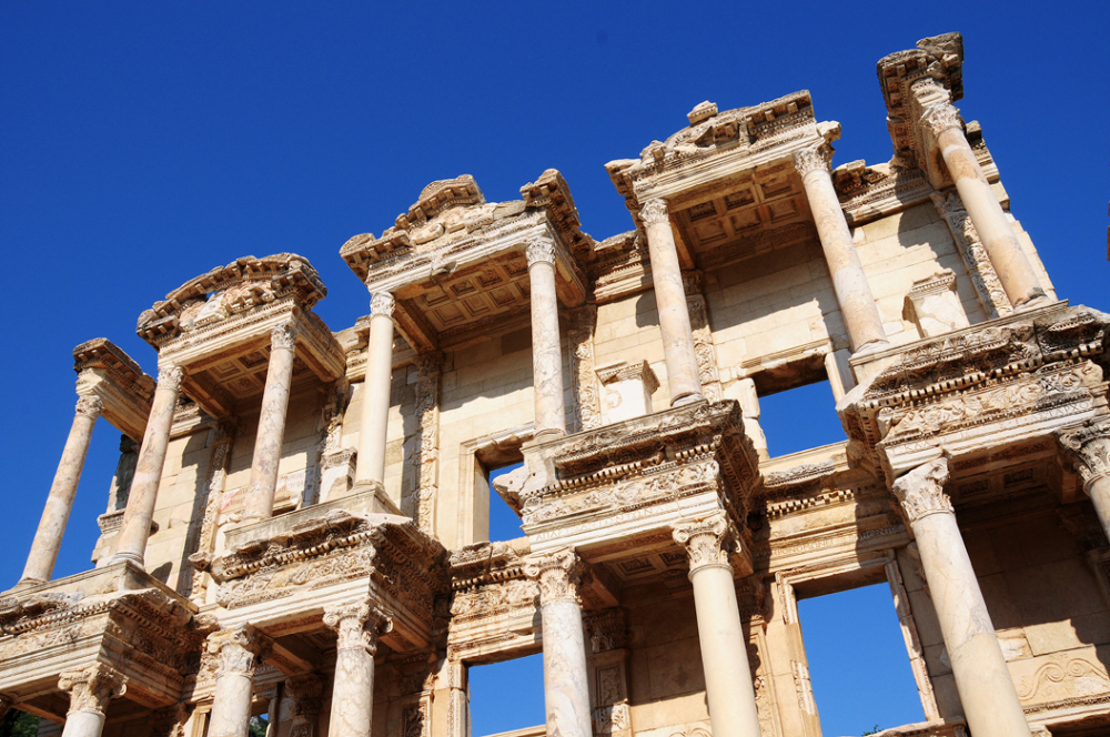 Facade of the Celsus Library - Ephesius