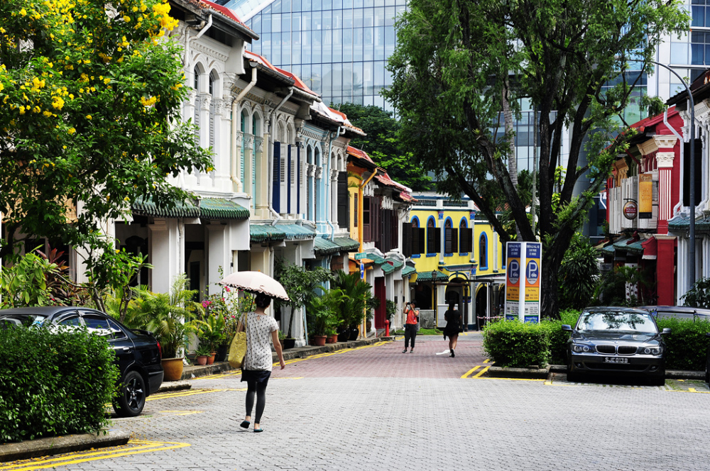 Traditional Shophouses - Emerald Hill, Singapore