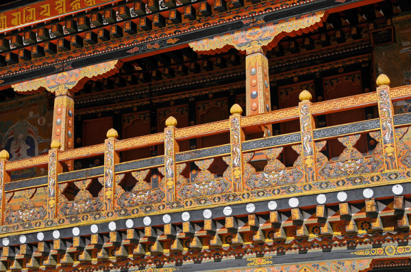 Punakha Dzong - Intricate Woodwork
