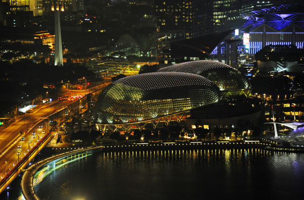 Singapore by Night - Esplanade Concert Hall