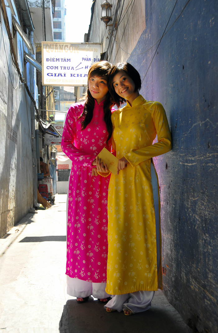 Young Ladies in Ao Dai