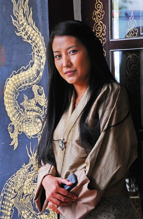A Lady in Bhutan