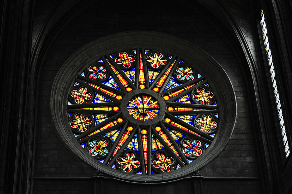 Rose Window - Orleans Cathedral