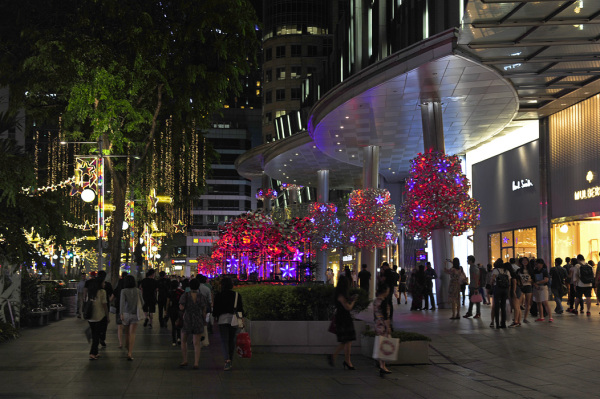 Night View of Orchard Road, Singapore