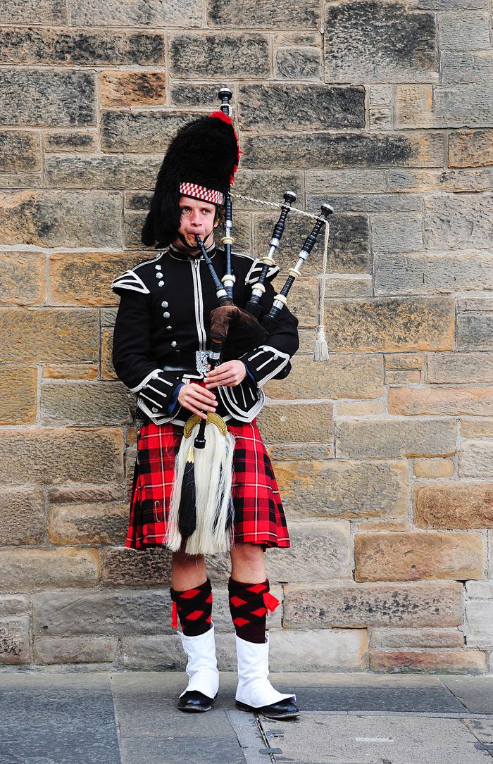 A Bagpiper in Edinburgh