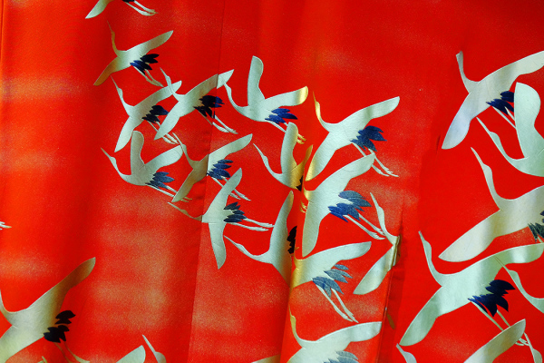 Fabric Design - Flying Cranes