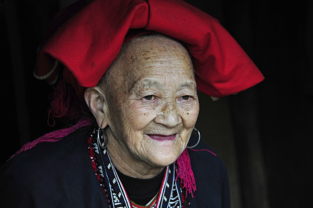 Octogenarian of the Red Dzao Ethnic Minority