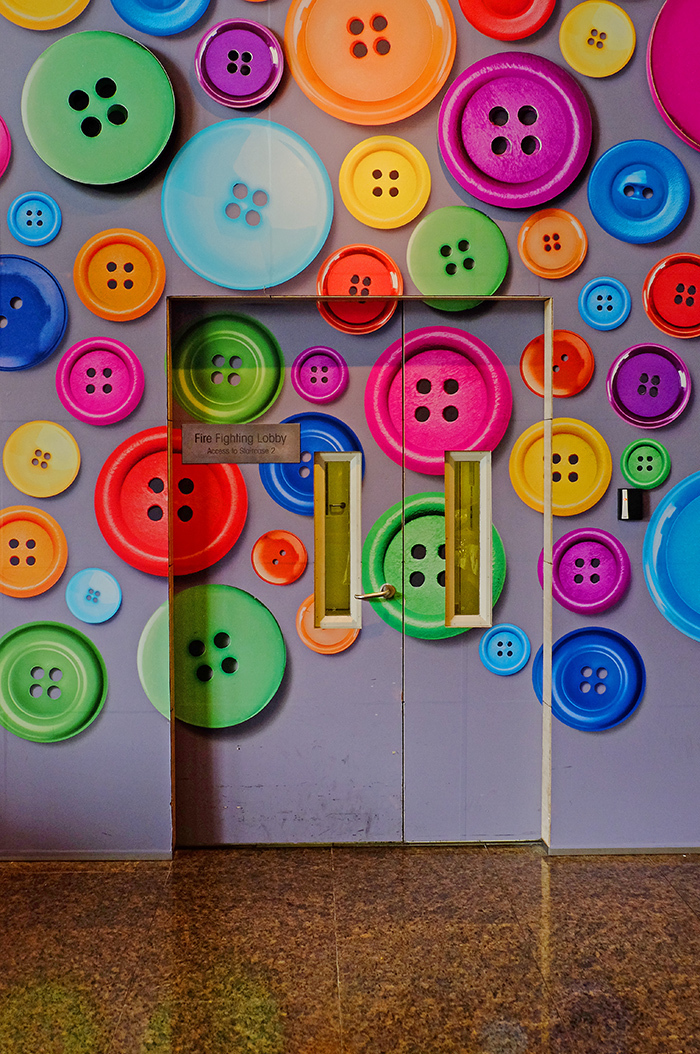 Buttons and Door