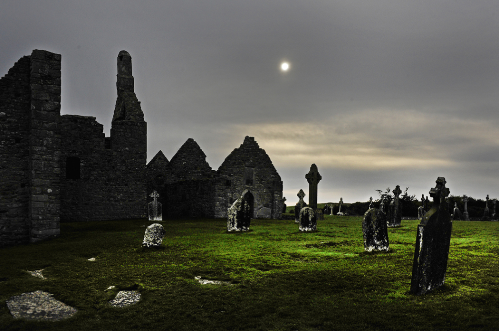 Clonmacnoise - an early monastic site in Ireland