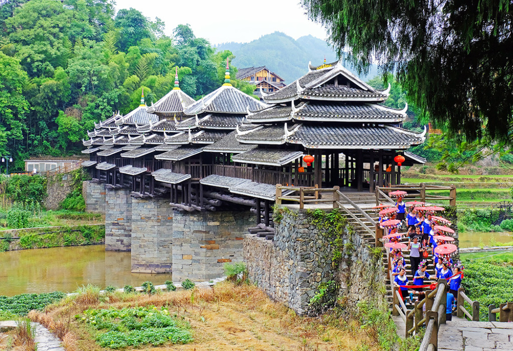 A Bridge of the Dong Ethnic Minority, Guangxi