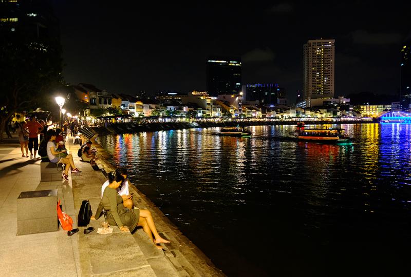 night night-scene river riverside restaurants