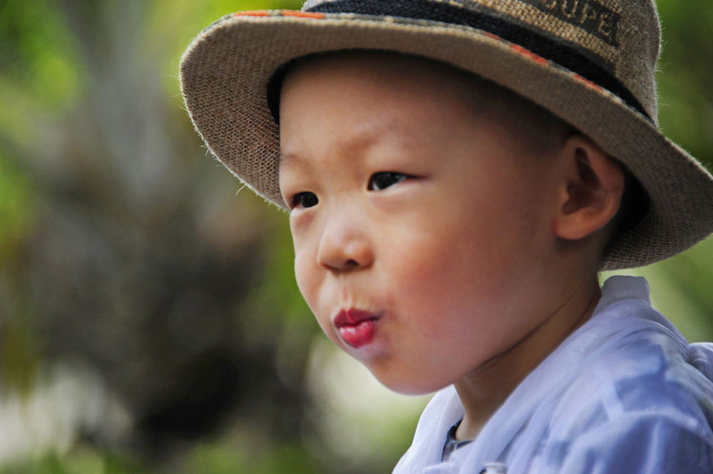 Boy with Pouted Lips (China)