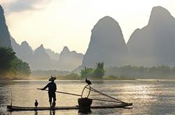 Fisherman on the Lijiang River, Guangxi, China