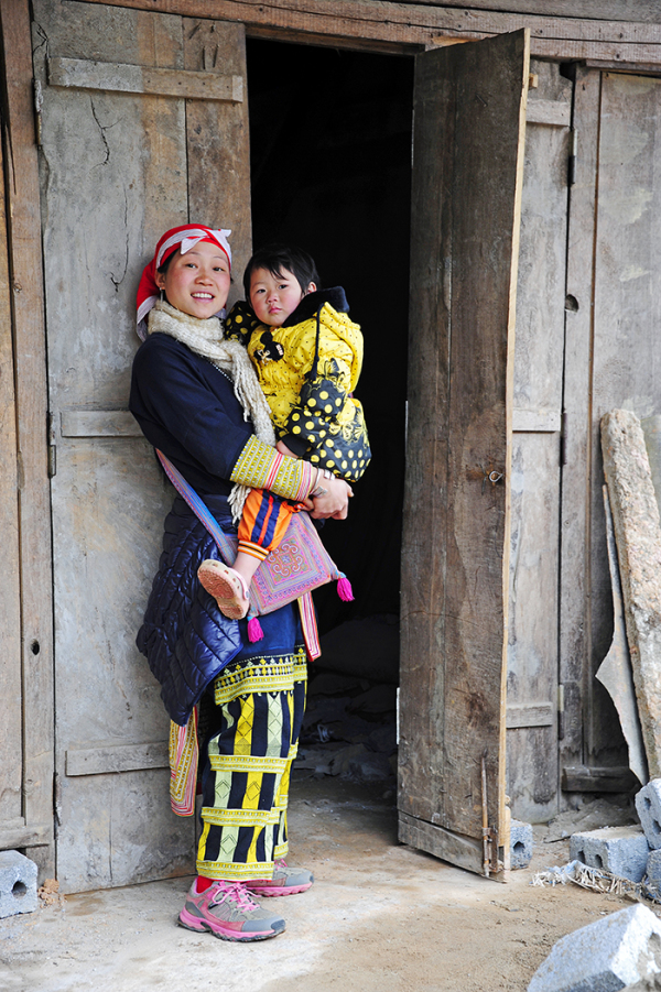 Mother & Child (Red Dzao)