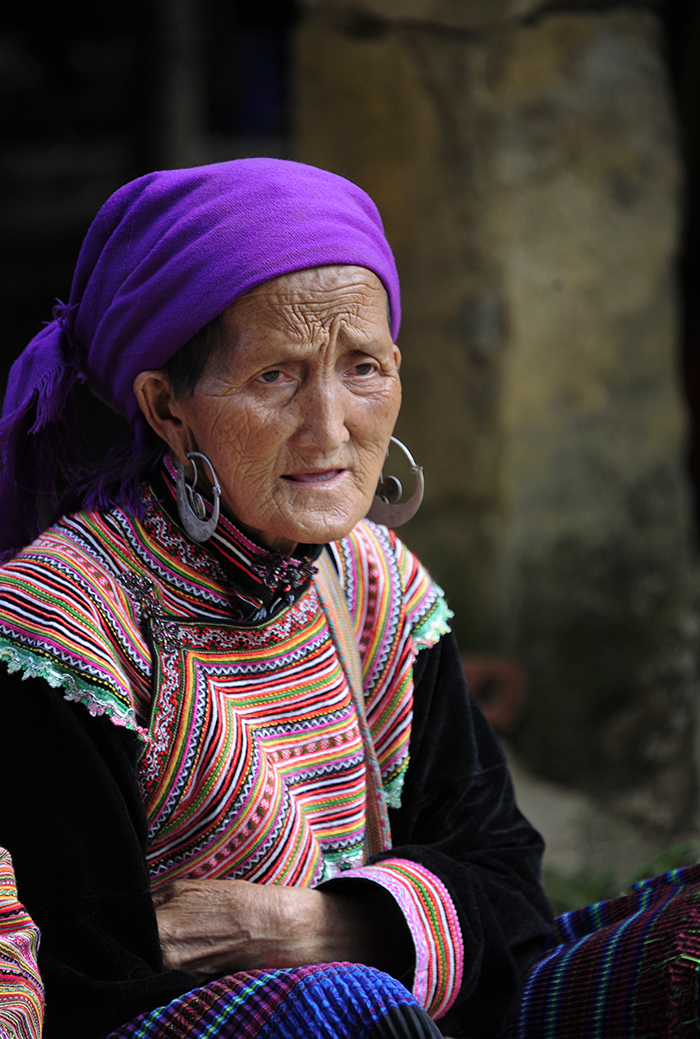 Woman of the Flower H'Mong Tribe