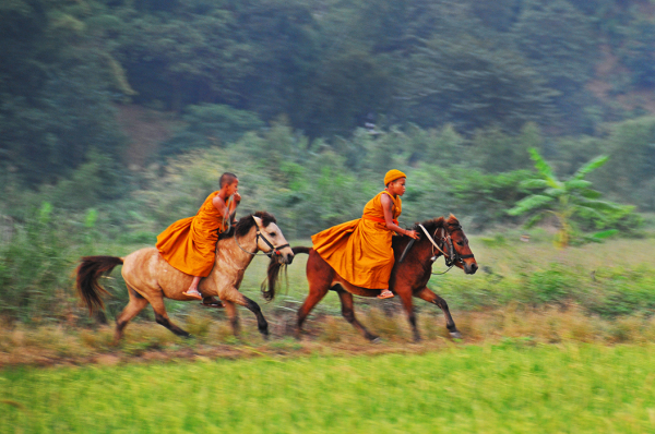 Monks on Horseback