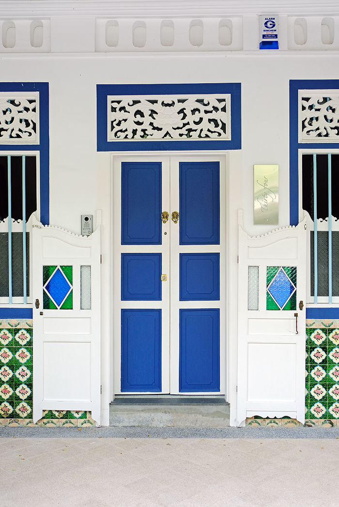 Door of Traditional Shophouse, Singapore
