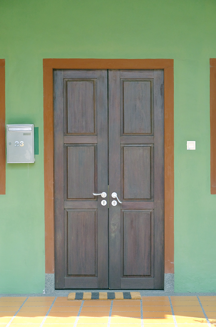 Door of a Traditional Shophouse, Singapore