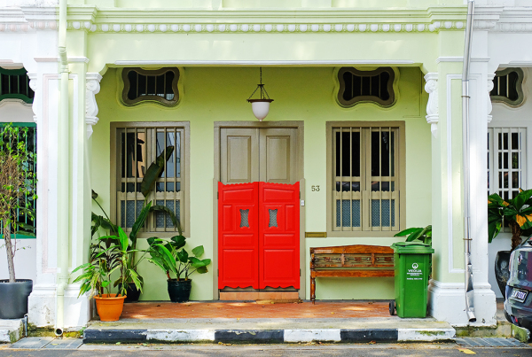 Frontage of a Traditional Shophouse, Singapore