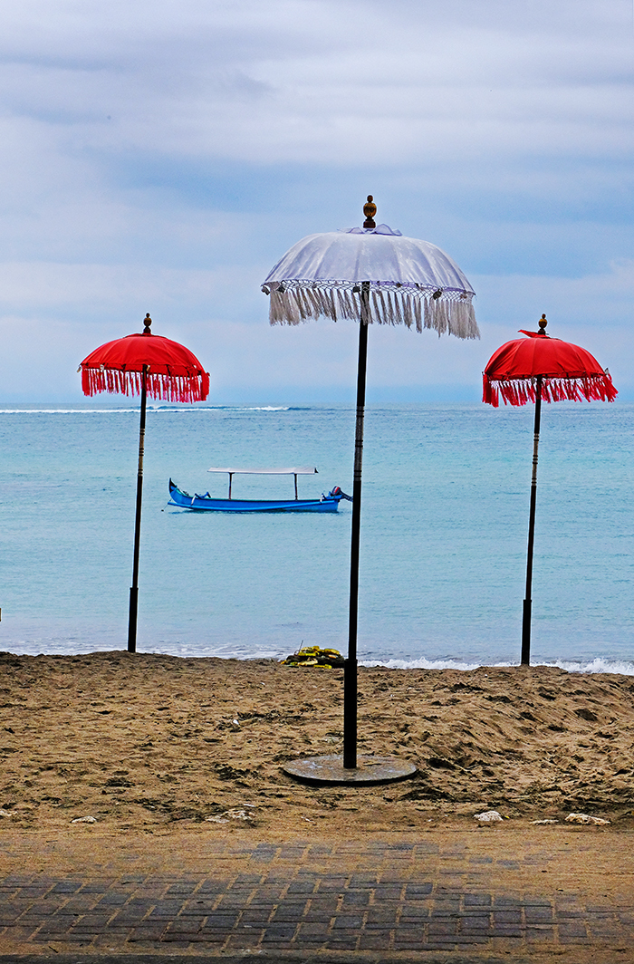 Umbrellas on a Bali Beach