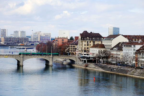 River Rhine in Basel.