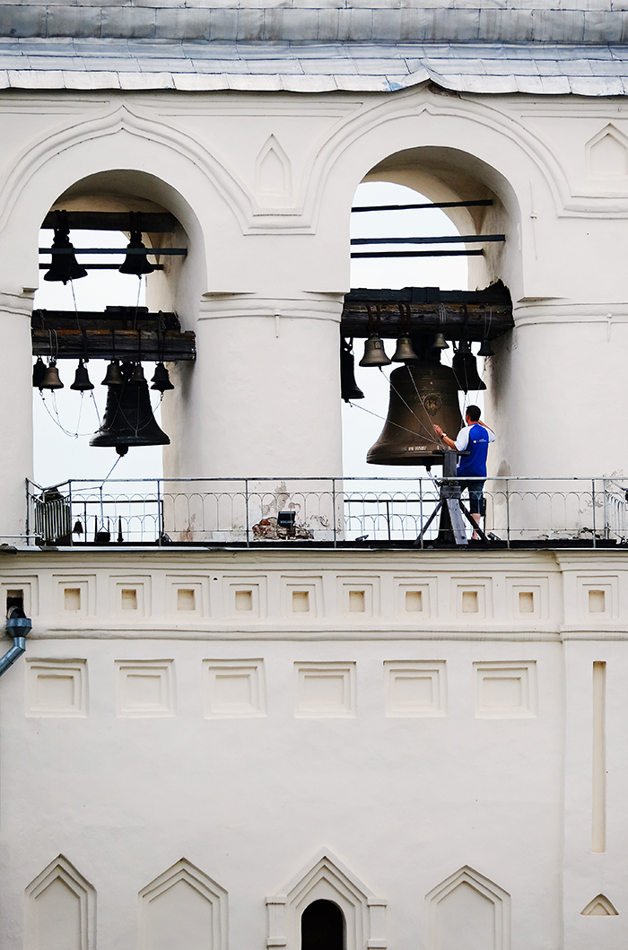 The Bell Ringer at St Sophia Cathedral, Novgorod
