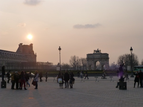 Sunset over the Louvre