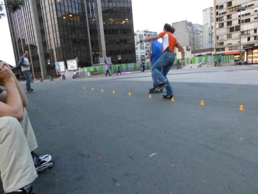 Brian May also skates