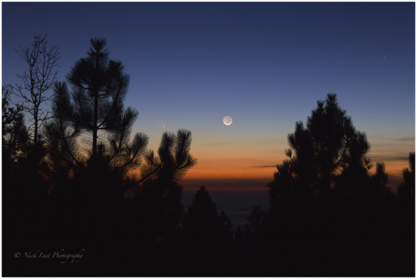 Pan-Starrs, comet, moon