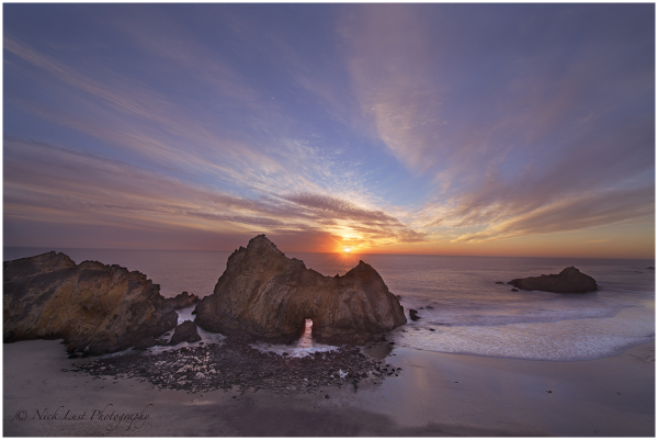 pfeiffer beach, big sur, california coast,