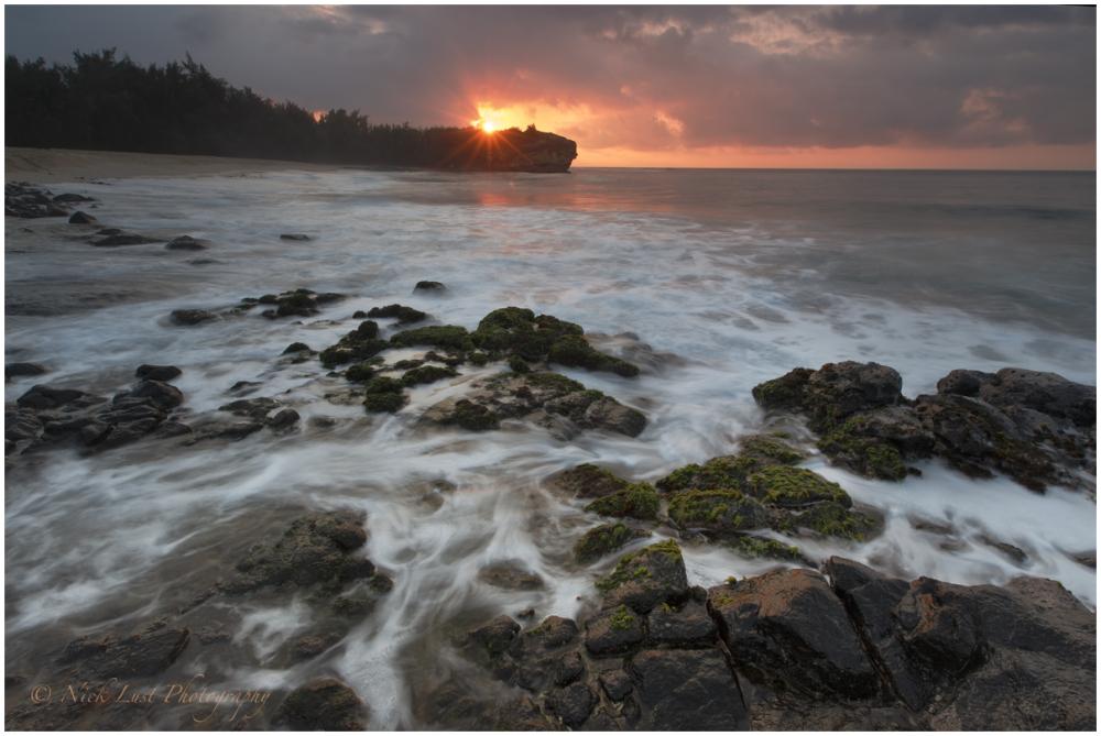 shipwrecks beach, kauai, hawaii, sunrise