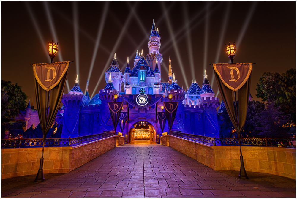 Disneyland, castle, diamond celebration, 60