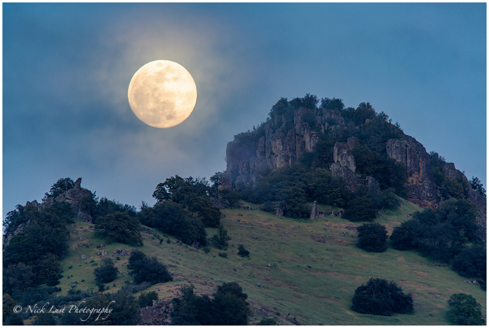 Full Moon Rise Over Santa Ana Peak