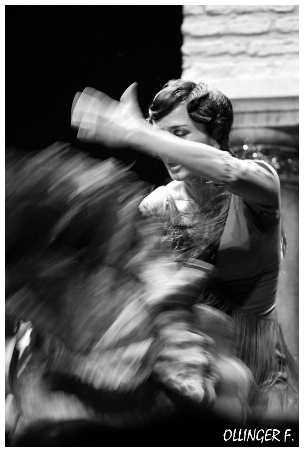 Flamenco dancing woman