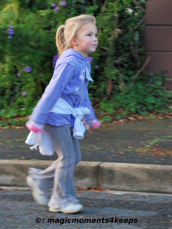 Child at fun-walk