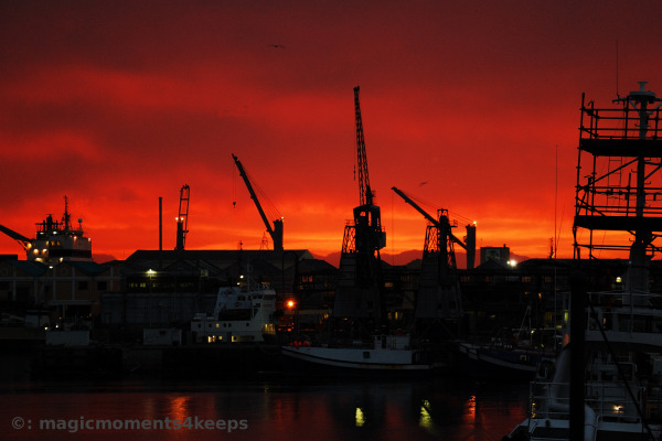 Dawn over Cape Town Harbour