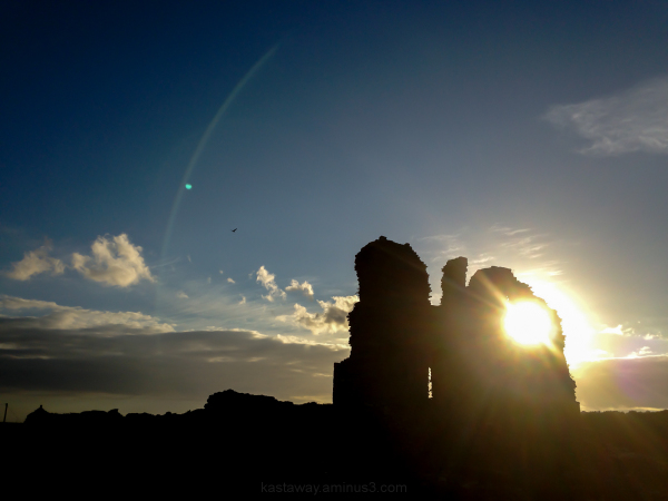 Sunset at Ogmore Castle