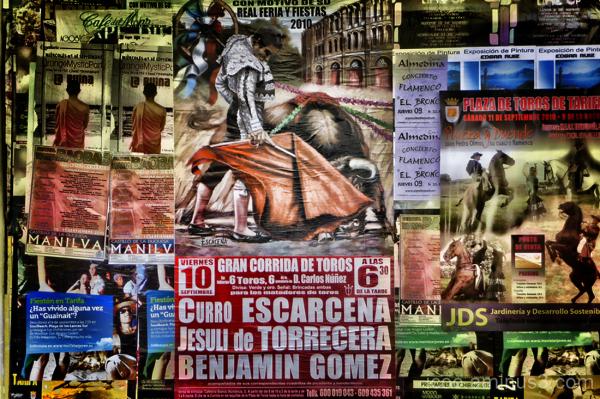 Bullfight posterwall