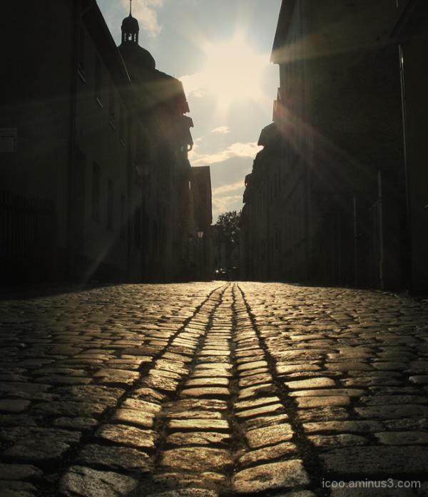 Old road in village