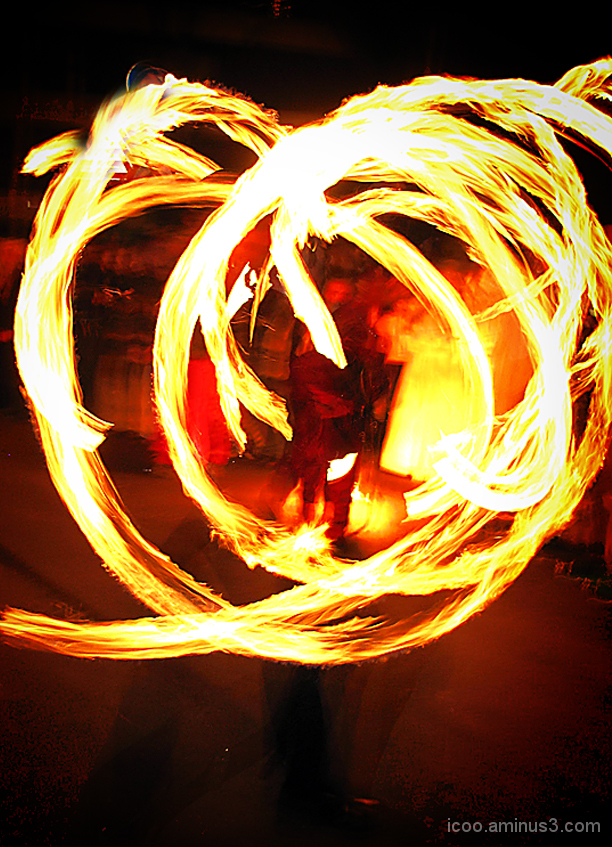 Fire, Juggling, Night