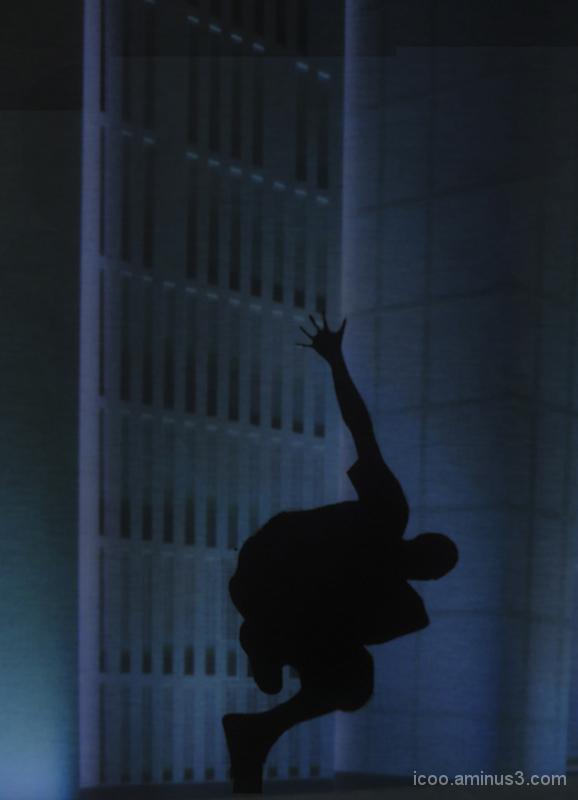 man jump blue