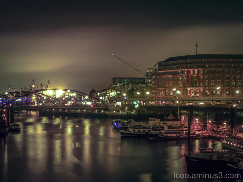 Hamburg Harbour at Night