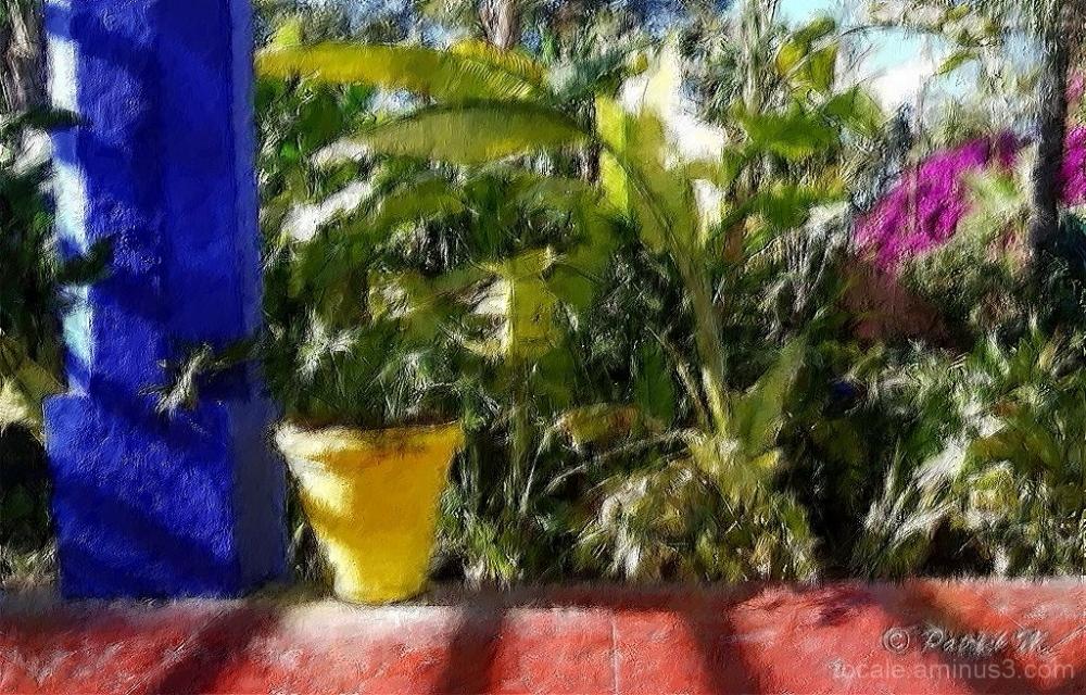 Dans ce jardin... se mettre à peindre !