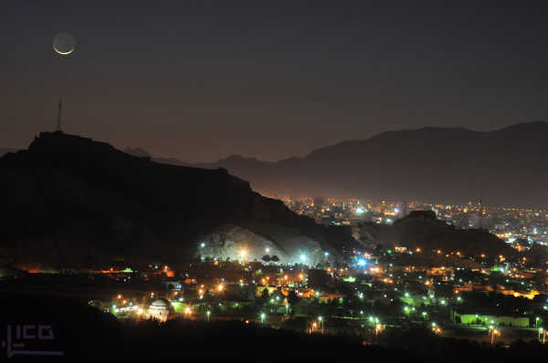 Moon and my hometown (kerman - iran)