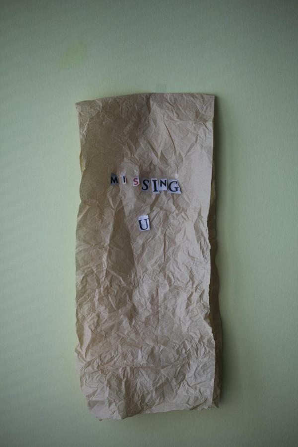 Missing U (Written On A Bag)