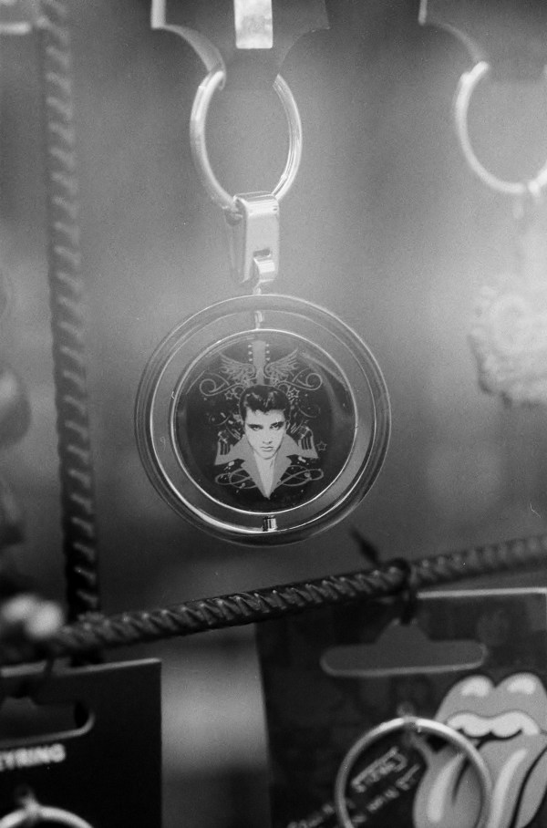 A Key Ring With The Face of Elvis Presley