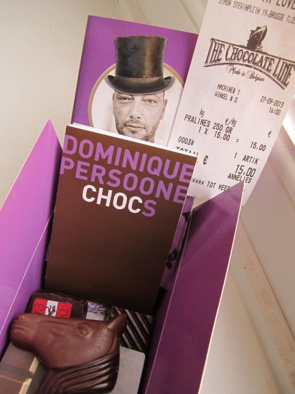 One box of delicious Belgian chocolates...